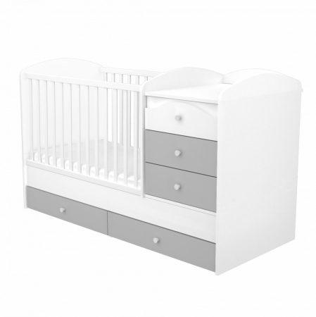 Maxi Kombi 5 fiókos gyermekágy Ezüst-Fehér