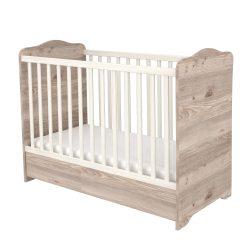 Zárt végű ágyneműtartós gyermekágy Krém-fűz