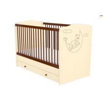 70 x 140-es Átalakítható Gyermekágy Ágyneműtartós ZSÓFI - Csoki vanília macis